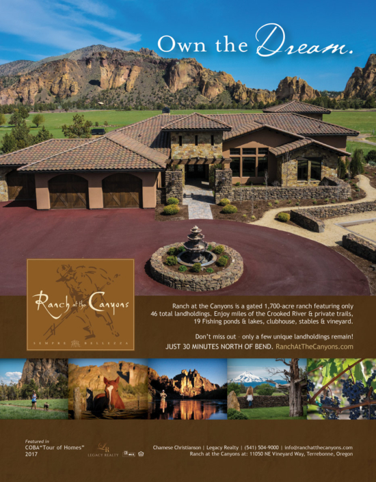 Luxury real estate magazine advertisement